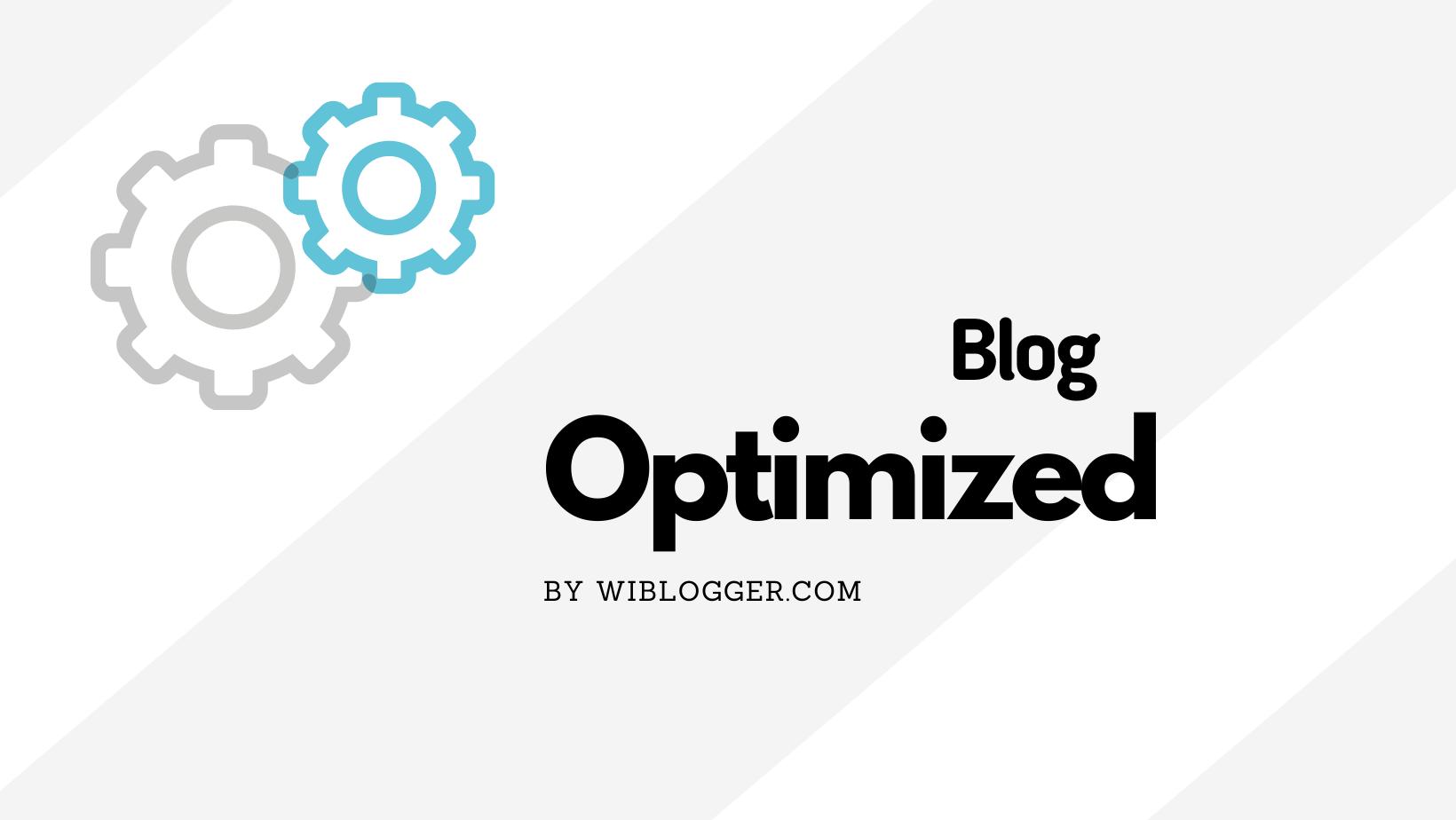 Jasa optimasi blog seo dan template