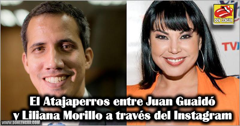 El Atajaperros entre Juan Guaidó y Liliana Morillo a través del Instagram
