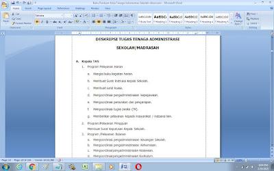 Contoh Tugas dan Fungsi Kepala Administrasi Sekolah (TAS)