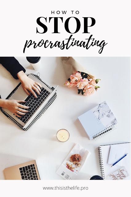 pinterest pin image - how to stop procrastinating