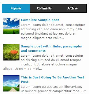 Sidebar Widget Multi Tab Menu di Sidebar Blog