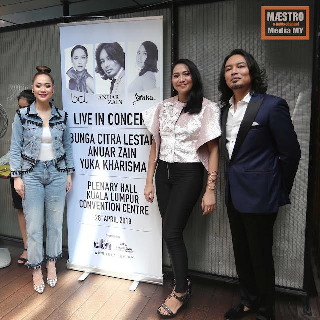 BUNGA CITRA LESTARI , ANUAR ZAIN & YUKA KHARISMA LIVE IN CONCERT - maestro media my