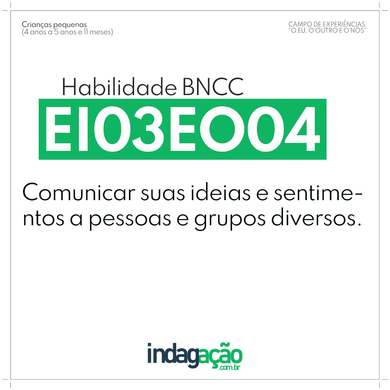Habilidade EI03EO04 BNCC