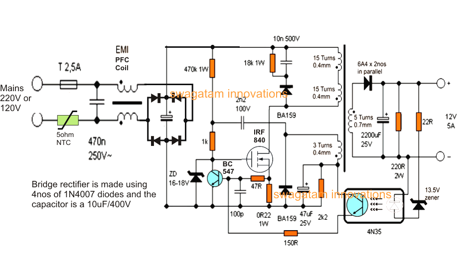 Smps Circuit Diagram