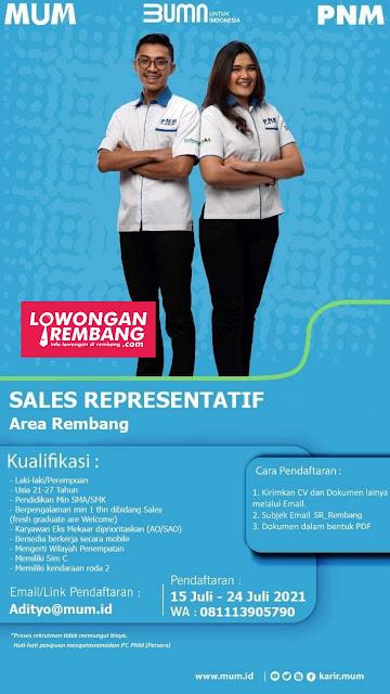 Lowongan Kerja Sales Representatif PNM Rembang