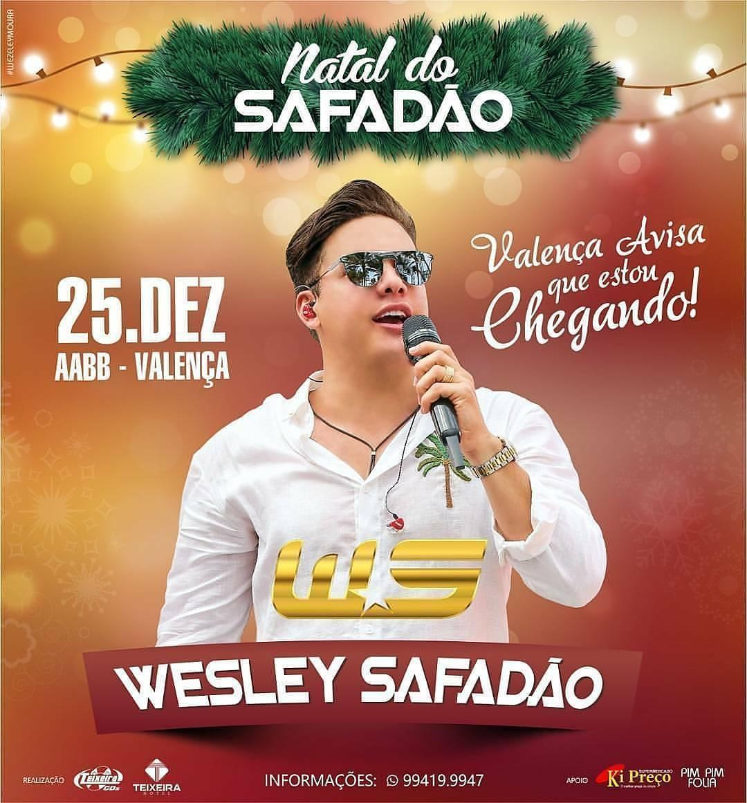 8a208c72293b6 Confirmado Natal do Safadão, o evento acontece no dia 25 de dezembro, na  AABB, em Valença-PI.