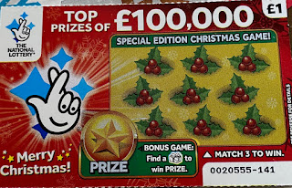 £1 Red Christmas Scratchcard