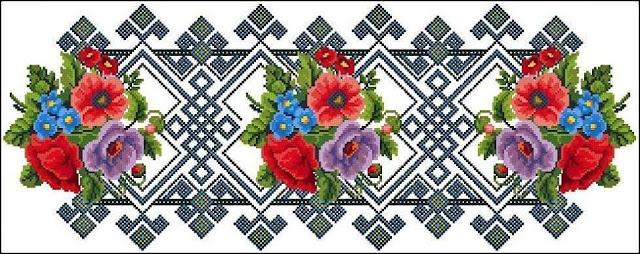 wzory haftów krzyżykowych