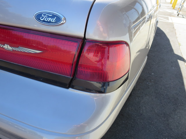 Close-up of dent and panel gaps after repair