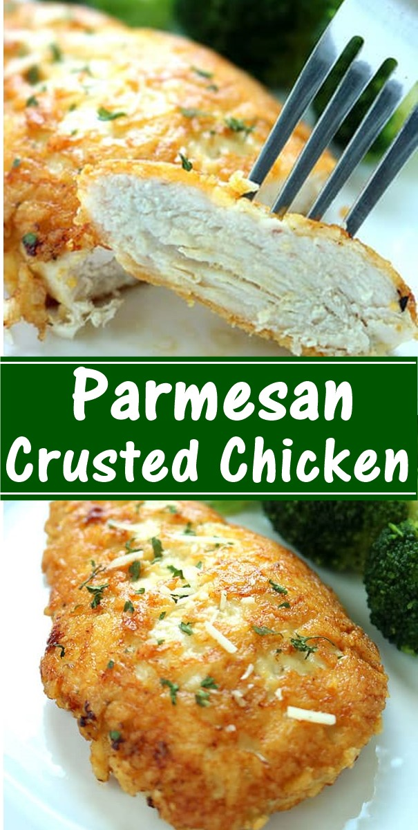 Parmesan Crusted Chicken #dinnerrecipes