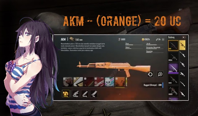 cara mendapatkan skin akm orange pubg mobile