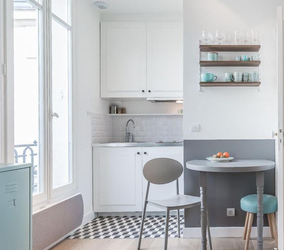 Cómo planificar un lugar para comer en una cocina pequeña ...