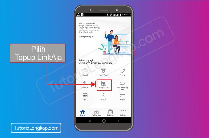 Tutorialengkap 2 cara isi saldo LinkAja atau Tcash dengan Aplikasi Brimo Bank Bri secara Online