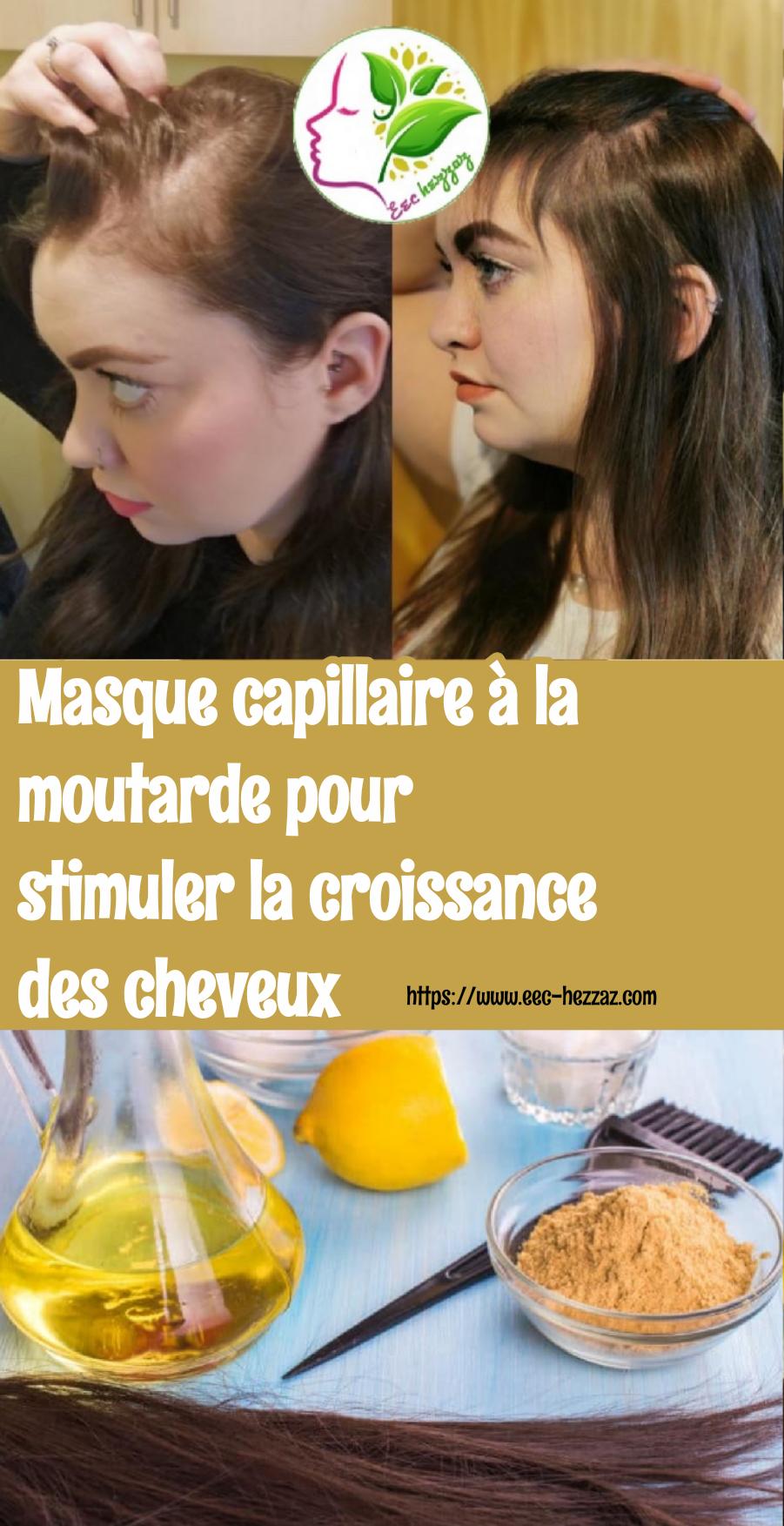 Masque capillaire à la moutarde pour stimuler la croissance des cheveux