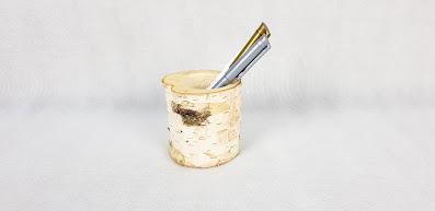 brzozowy stojak na długopisy wypożyczalnia dekoracji rzeszów ślubnażyczenie
