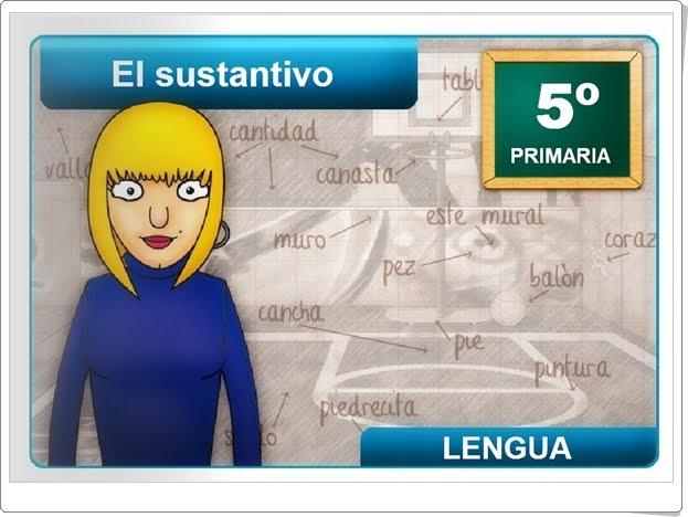 """""""El sustantivo"""" (Aplicación interactiva de Lengua Española de Primaria)"""