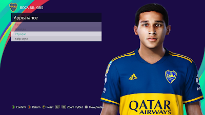PES 2021 Faces Agustin Obando by Nahue