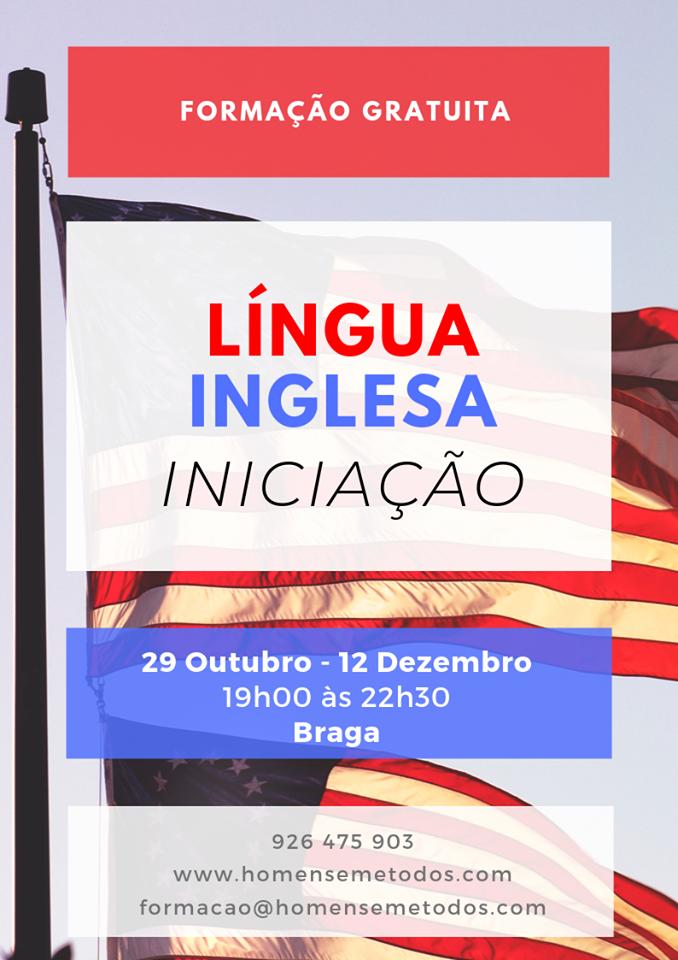 Curso gratuito de Língua Inglesa em Braga