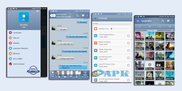 BBM Mod Tema iPhone iOs v3 Apk