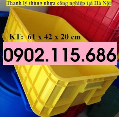 Thanh lý thùng nhựa công nghiệp tại hà nội, khay nhựa công nghiệp tại hà nội, hộp nhựa công nghiệp tại hà nội, 3