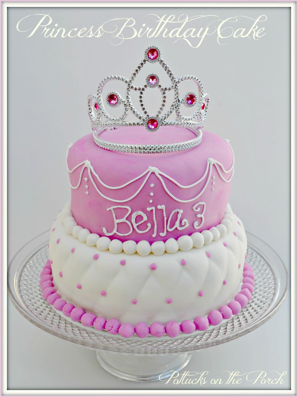 Potlucks On The Porch Princess Brithday Cake Tutorial