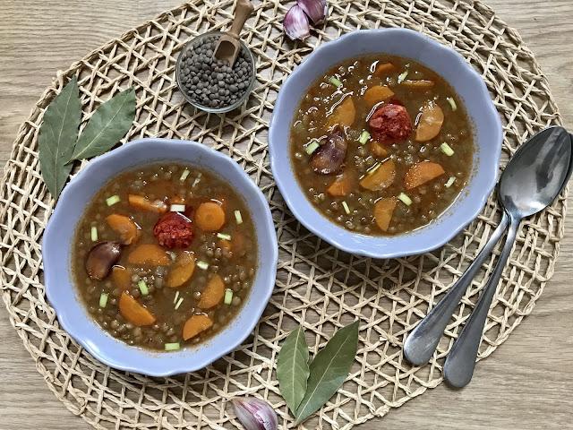 LENTEJAS CON CHORIZO ¡¡AL MICROONDAS!! Receta Tradicional Fácil y Deliciosa