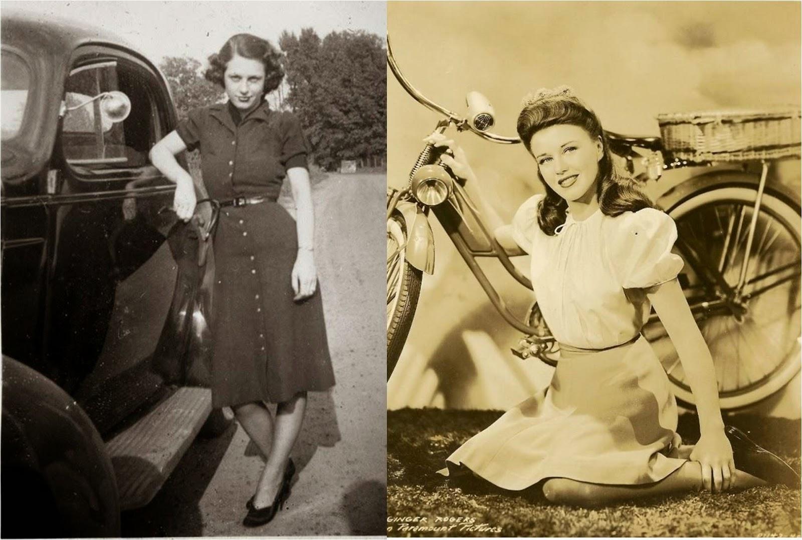 Silhueta estreita e cintura marcada. As saias eram retas com pregas  invertidas para facilitar o movimento. Alguns projetistas de moda  inspiravam-se em ... 4f983009e06
