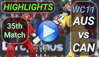 AUS vs CAN 35th Match