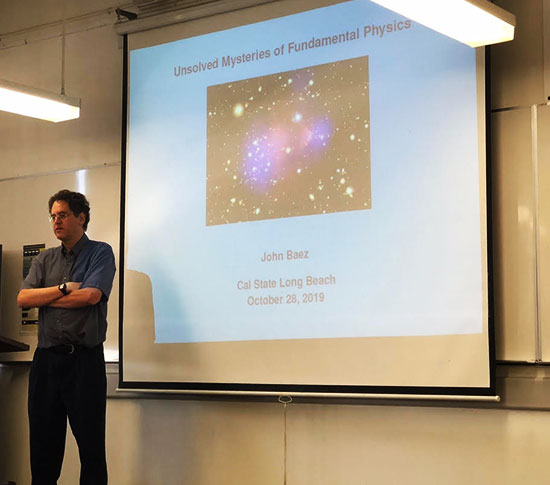 Mathematical Physicist, John Baez, UCR speaks at CSULB Physics Colloquium (Source: Palmia Observatory)