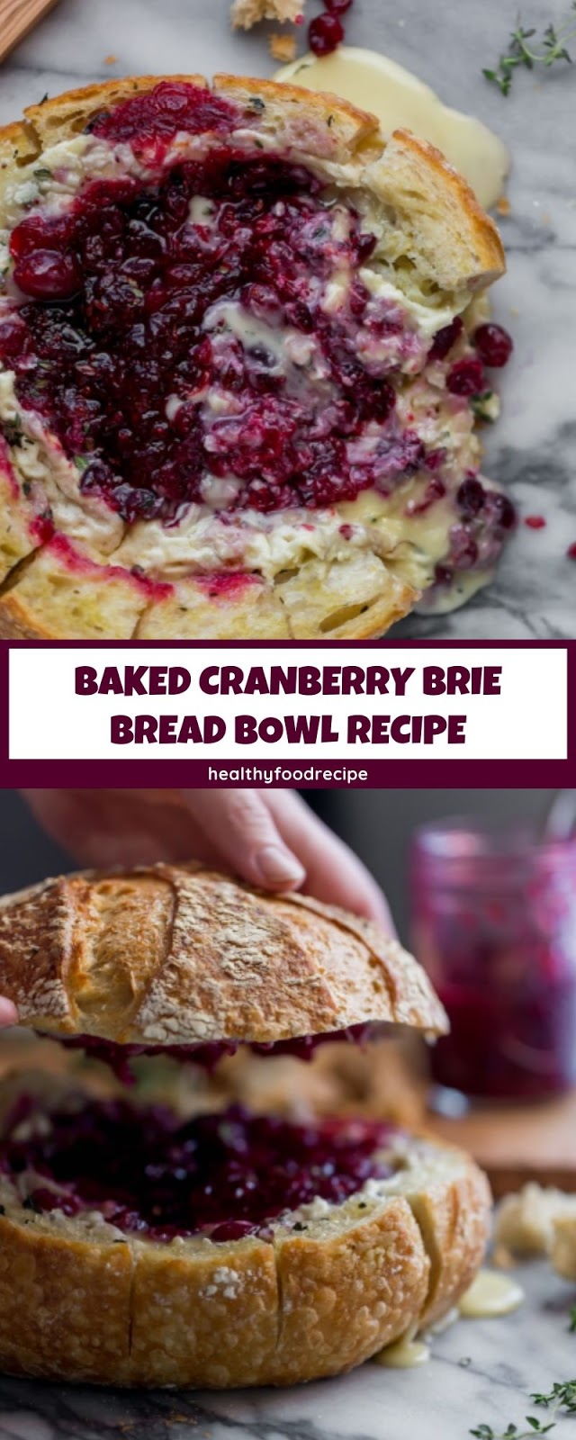 BAKED CRANBERRY BRIE BREAD BOWL RECIPE