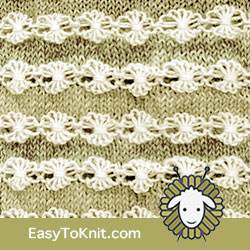 #EasyToKnit Textured Knitting 35: Flowers in a Row