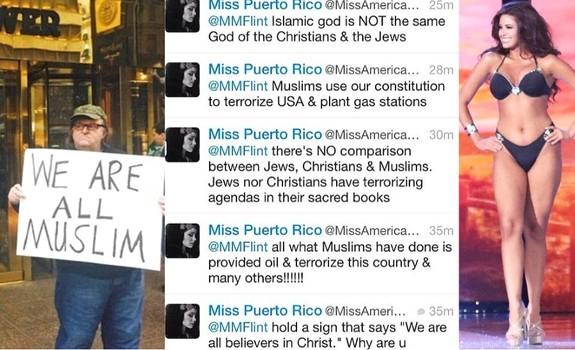 Após ofender muçulmanos Miss Porto Rico é chutada para fora