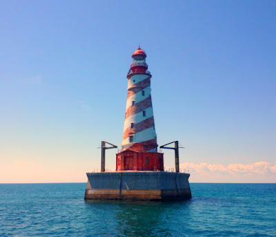 White Shoal Lighthouse in Lake Michigan, United States