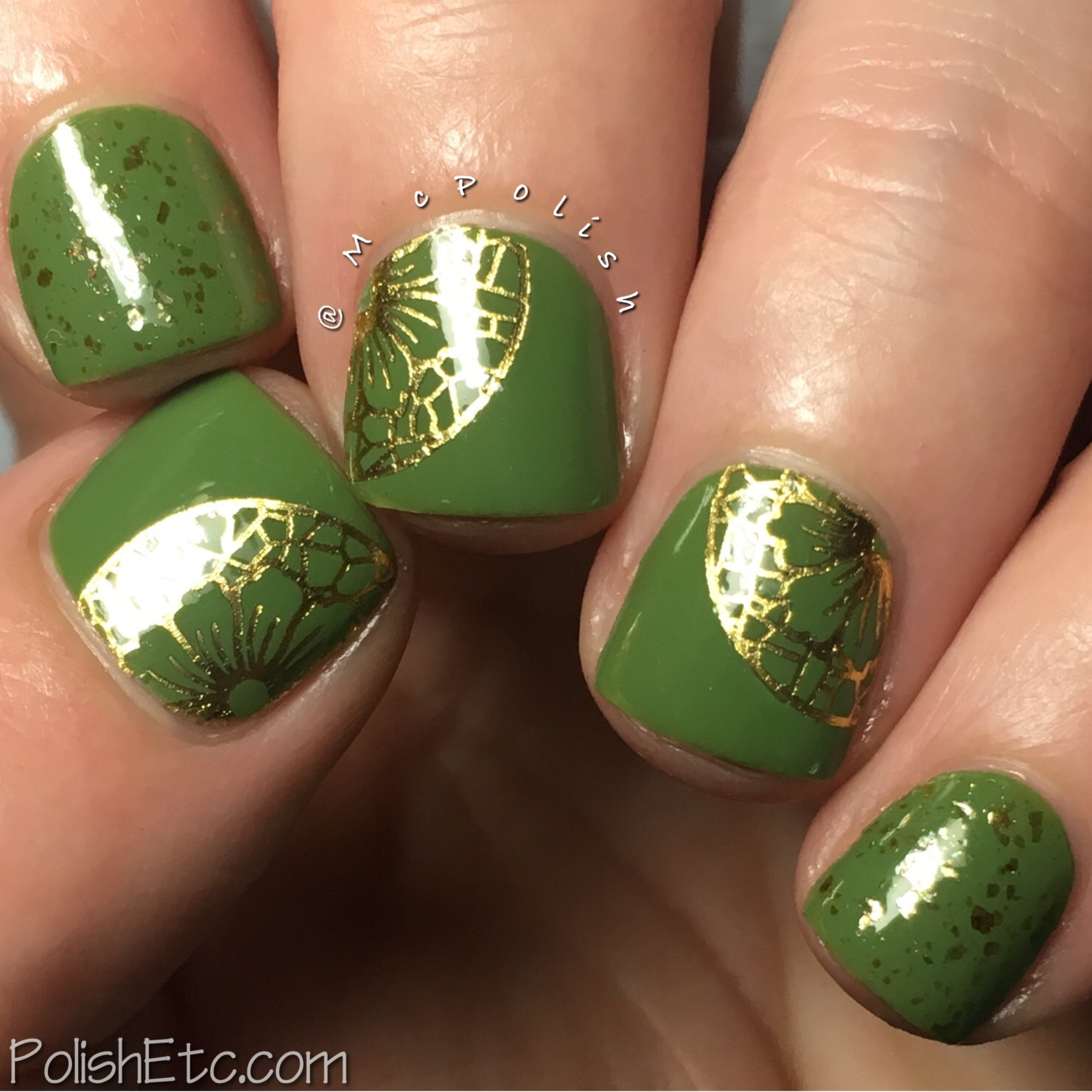 Green Nails for the #31DC2017Weekly - McPolish - Zoya Jace and Wrap Artist Nails
