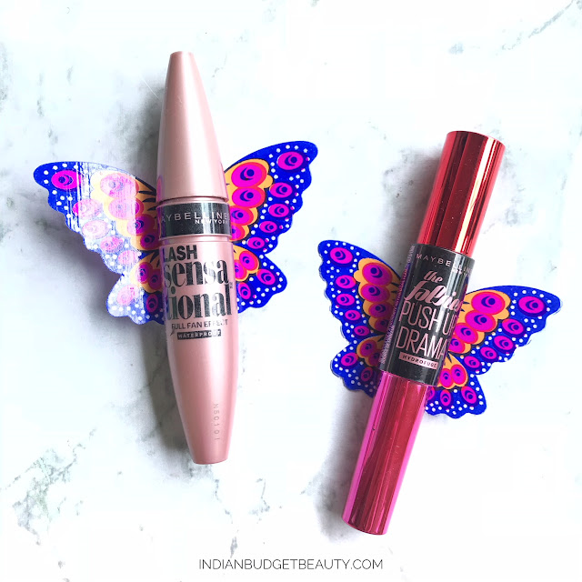 Maybelline Lash Sensational Mascara vs Maybelline The Falsies Push Up Drama Mascara packaging