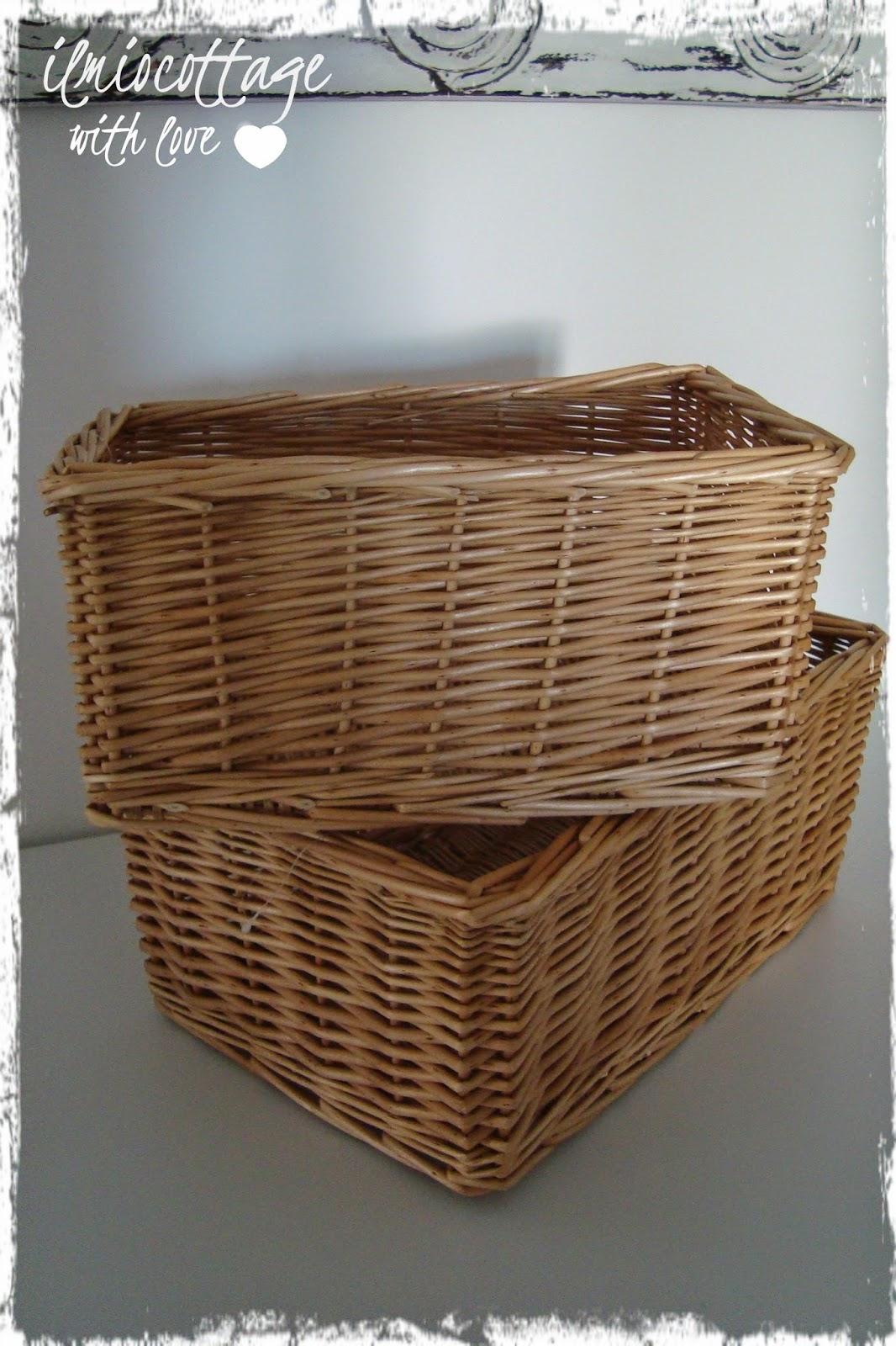 Cestini Da Lavoro Per Cucito il mio cottage: come rivestire vecchi cestini in vimini