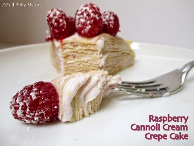 Crepe Cake Raspberry Apple