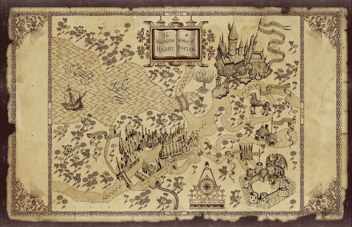 Nerdovore Fantasy World Maps Harry Potter