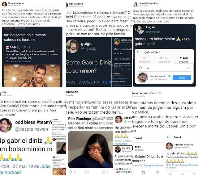 "Anti-Bolsonaro comemoram a morte de Gabriel Diniz: ""bolsominion""😢"