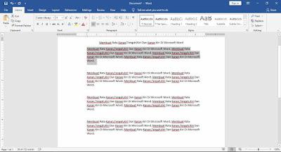 Membuat Rata Kanan/Tengah/Kiri Dan Kanan Kiri Di Microsoft Word