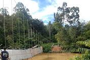 Dua Pekerja Jembatan Gantung Di Desa Sungai Keli Yang Ambruk, Hilang Terseret Air sungai
