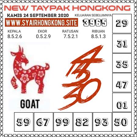 Prediksi Togel New Taypak Hongkong Kamis 24 September 2020