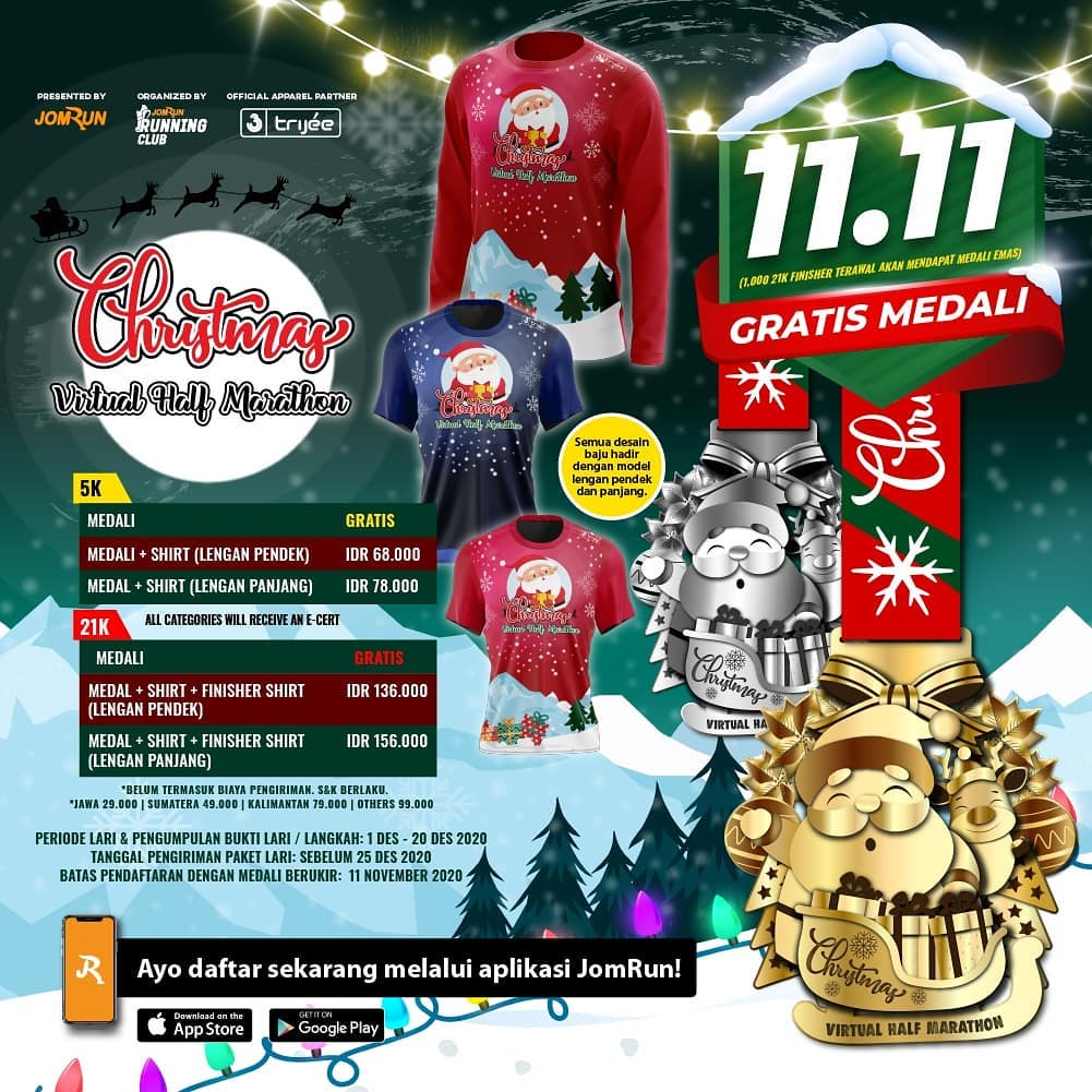 Christmas Virtual Half Marathon • 2020