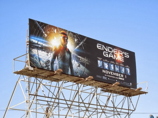 Enders Game movie billboard
