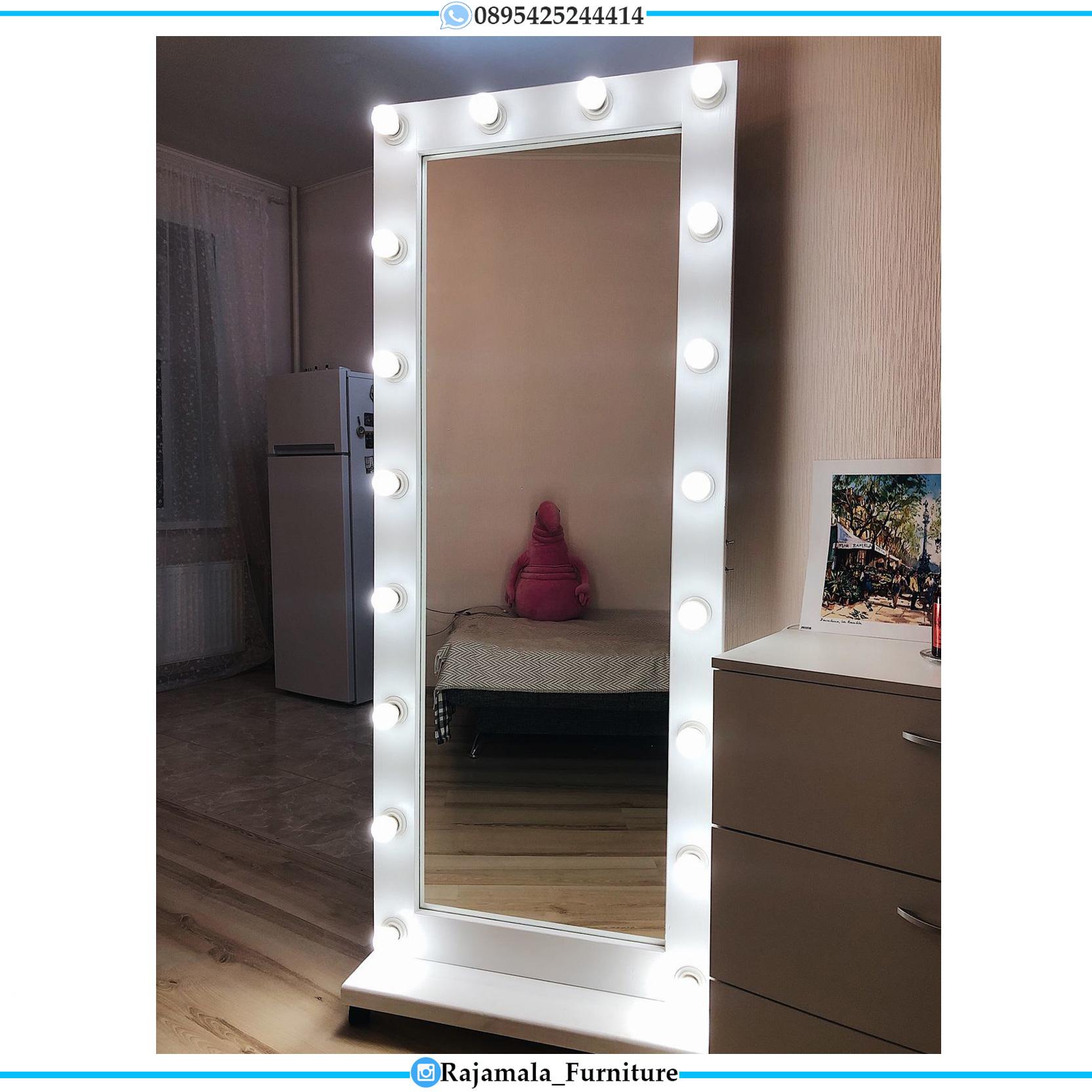 Stand Mirror Lampu, Cermin Rias Minimalis Terbaru RM-0114