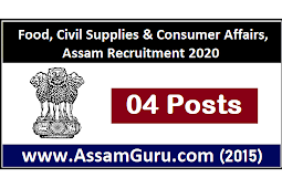 Food, Civil Supplies & Consumer Affairs, Assam Recruitment 2020 | Apply for 4 President & Member Posts