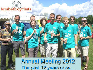 Lambeth Cyclists members in LCC t-shirts