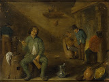 Smoker by David Teniers II - Genre Paintings from Hermitage Museum