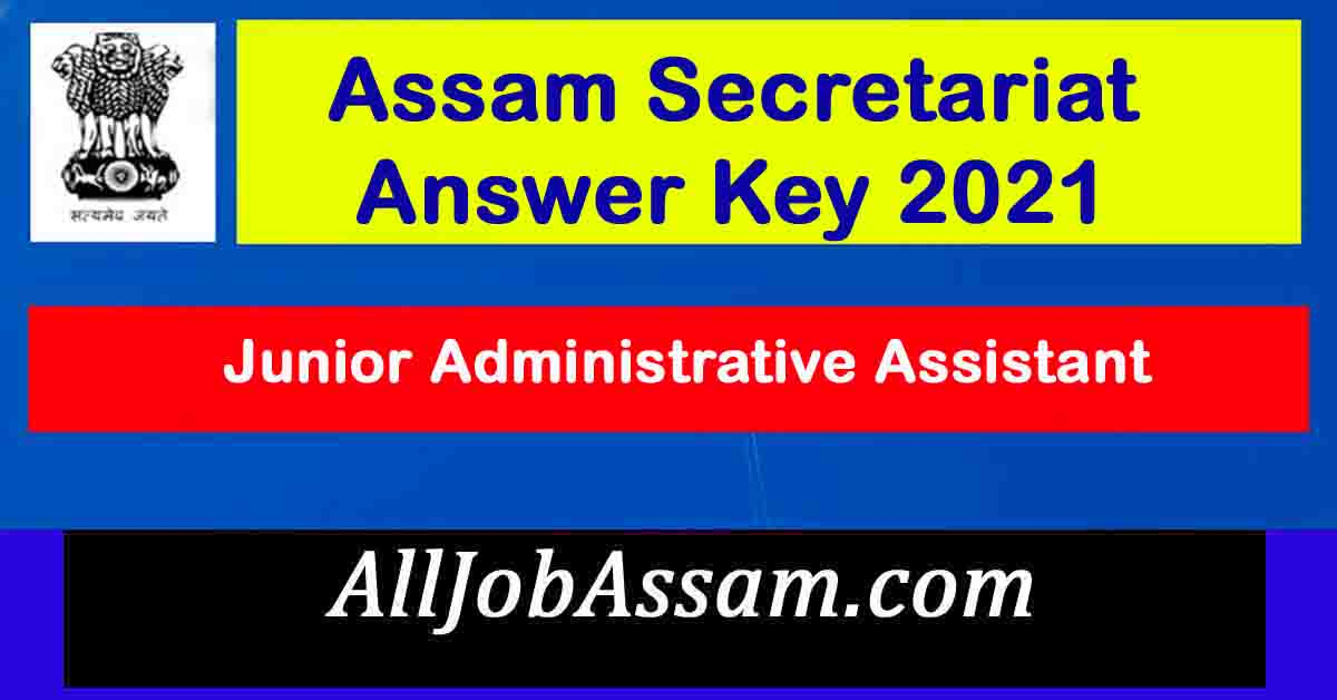 Assam Secretariat Answer Key 2021