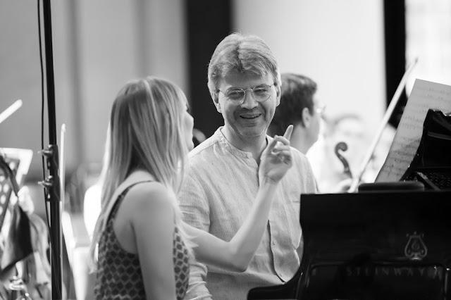 Mark Bebbington at 2019 recording session for Resonus Classics (Photo Nick Rutter)